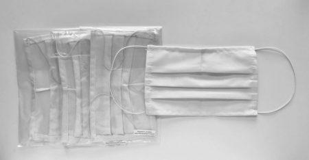 Orvosi vászon maszk LOGÓZVA - fehér - 50 db