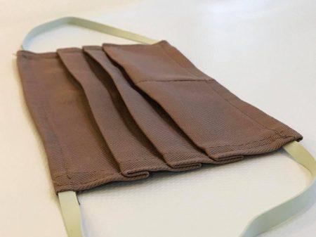 Orvosi vászon maszk LOGÓZVA - barna - 50 db