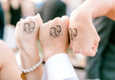 Tetoválás - Esküvői pár lemosható tetoválás