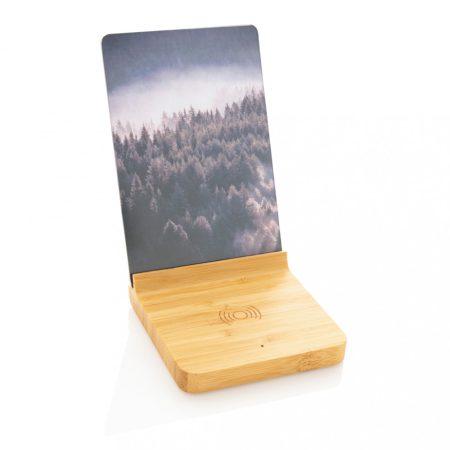 Bambusz 5W-os vezeték nélküli töltős képkeret