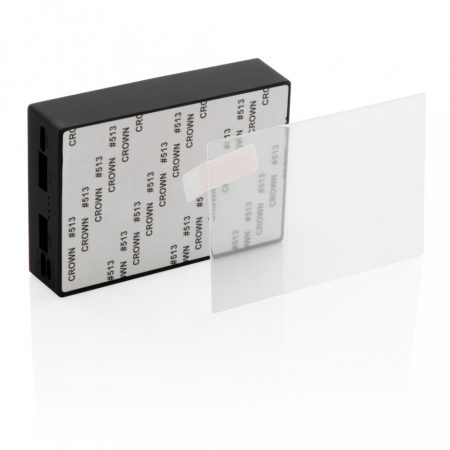 Edzett üveg borítású 5000mAh vezeték nélküli töltő powerbank