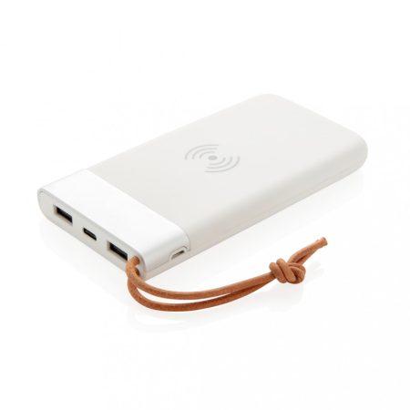 Aria 8000 mAh powerbank 5W-os vezeték nélküli töltéssel