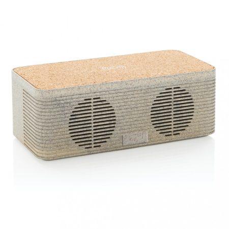 Vezeték nélküli töltős hangszóró búzaszárból