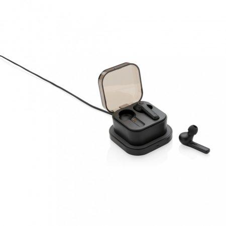 TWS fülhallgató vezeték nélküli töltős tartóval