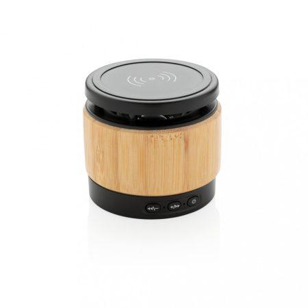 Bambusz vezeték nélküli töltős hangszóró