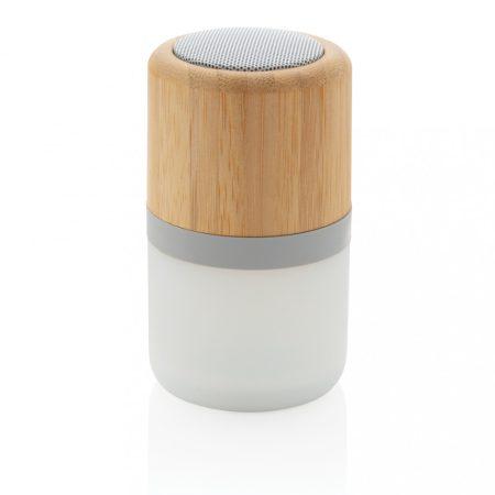 Bambusz színváltós, 3W-os hangszóró