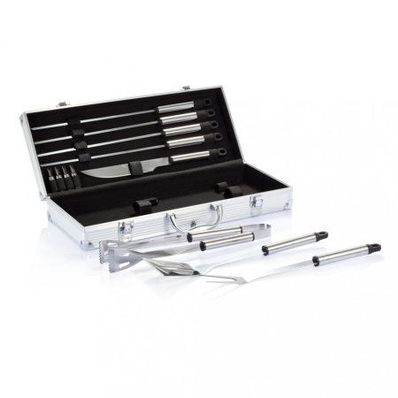 12 db-os grillező készlet alumínium dobozban