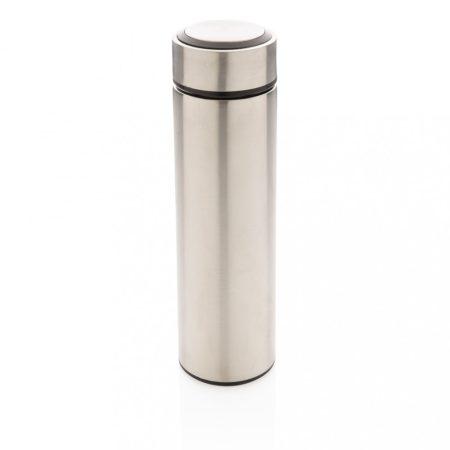 Vákuum palack rozsdamentes acélból szálcsiszolt fém kupakkal