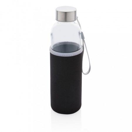 Üveg vizespalack neoprén tokkal