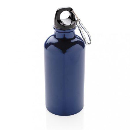 Alumínium többször használatos sport palack karabínerrel