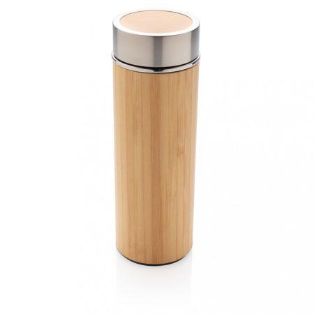 Szivárgásmentes vákuum bambusz palack