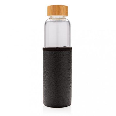 Üveg palack PU tartóban