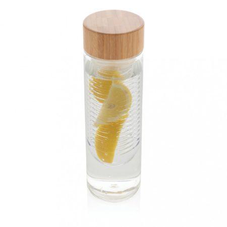 Bambusz fedeles palack gyümölcstartó egységgel