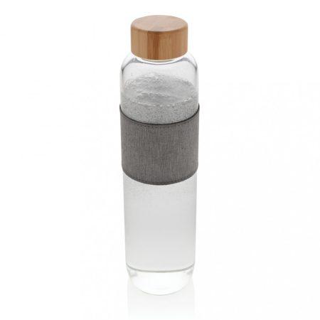Impact boroszilikát üveg palack bambusz kupakkal