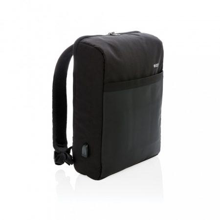 """Swiss Peak 15""""-es RFID lopásgátló & USB, PVC-mentes hátizsák"""
