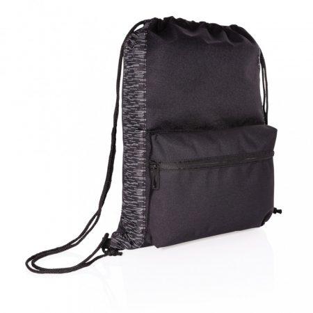 RPET fényvisszaverő zsinóros hátizsák AWARE™ nyomjelzővel
