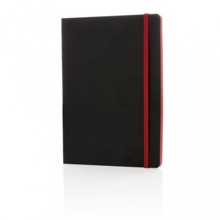 Deluxe A5-ös puhafedelű jegyzetfüzet színes éllel