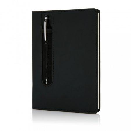 Basic PU keményfedelű A5-ös jegyzetfüzet tollal