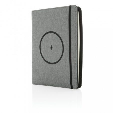Air rPet A5 jegyzetfüzet borító 5W vezeték nélküli töltéssel