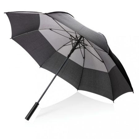 """27""""-es automatán nyitható, két színes viharálló esernyő"""