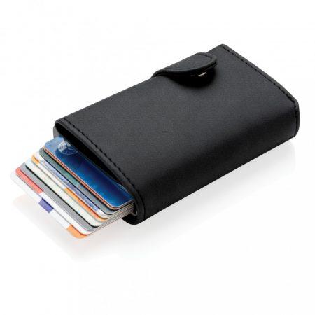 Standard alumínium RFID kártyatartó PU pénztárcával